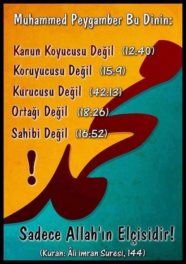 012040 015009 042013 018026 016052 Muhammed SADECE elçidir