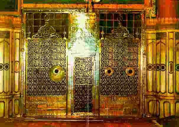 golden-gate-prophet-muhammads-tomb-from-inside