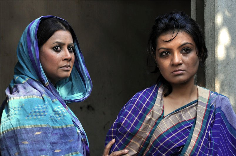 A scene from Divine Stone, directed by Hasan Mahmud, depicts the suffering of women under the sharia law.