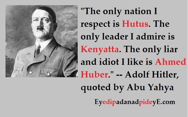 Adolph Hitler and Ahmed Huber