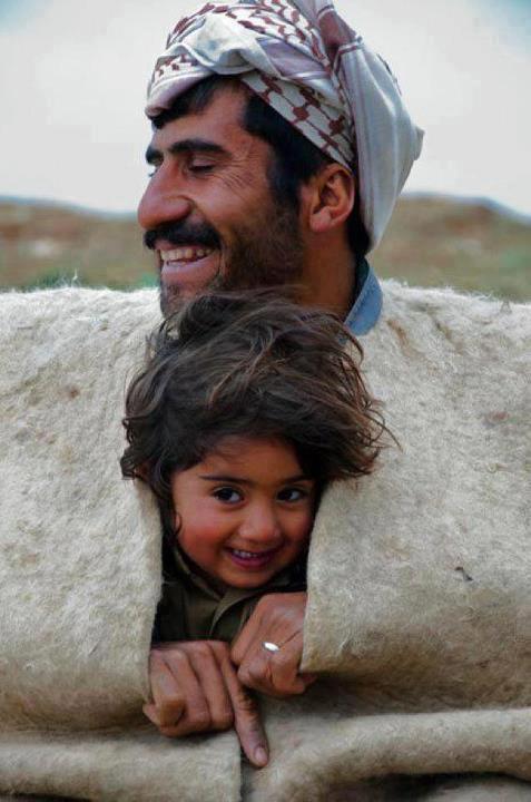 Kurdish shepard and son