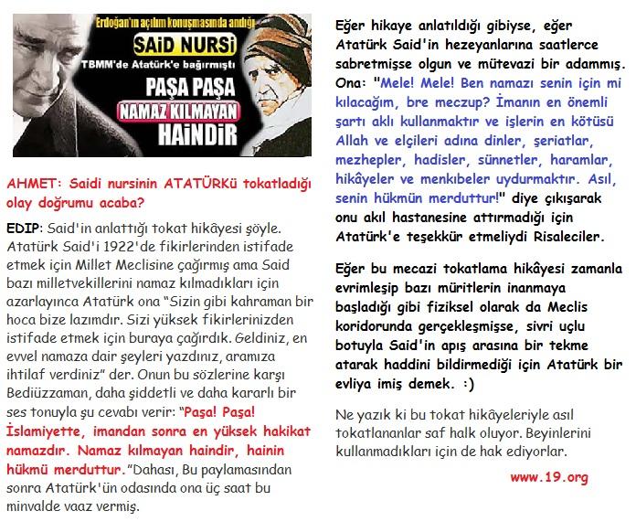 Said Nursi Atatürk Tokat