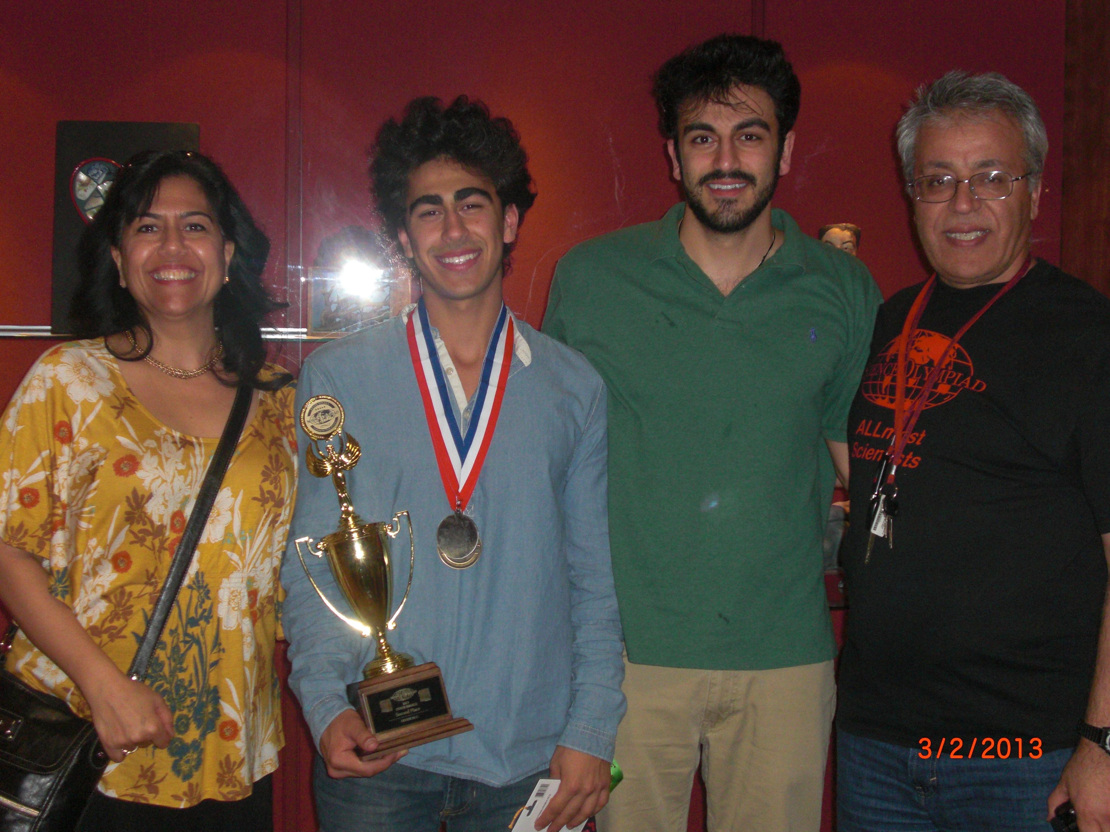 Anne, Matine (Metin), Yahya ve Edip - 3 Mart 2013, Phoenix, Science Olympiad