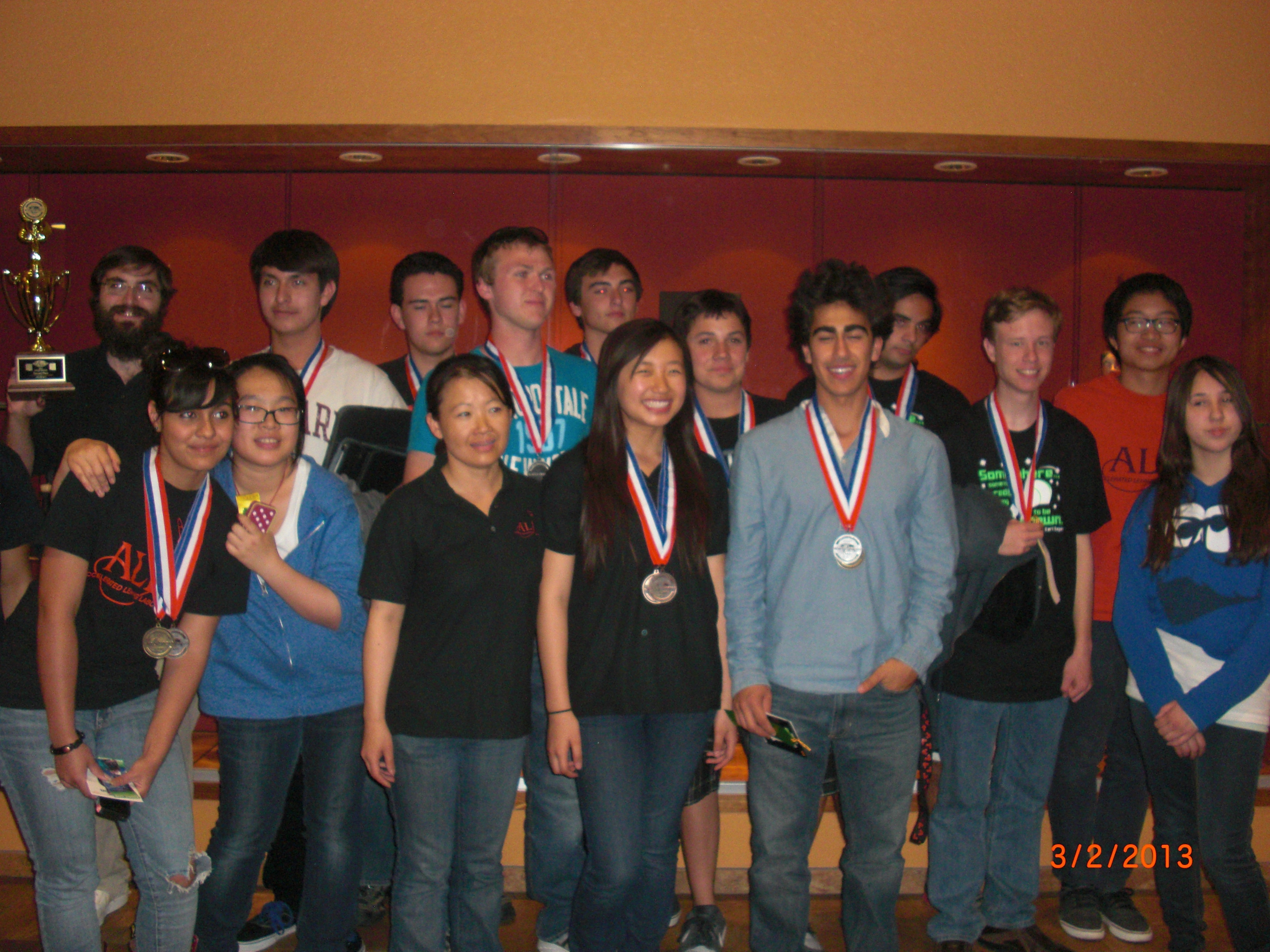 2013 Science Olympiad Team 1