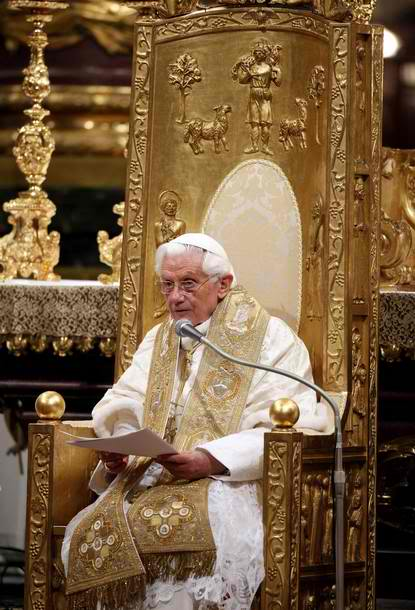Pope on Chair