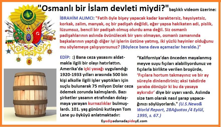 Osmanlı Alkol Yasağı Fıçı