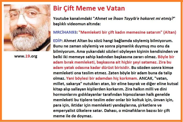 Ahmet Altan ve bir çift meme