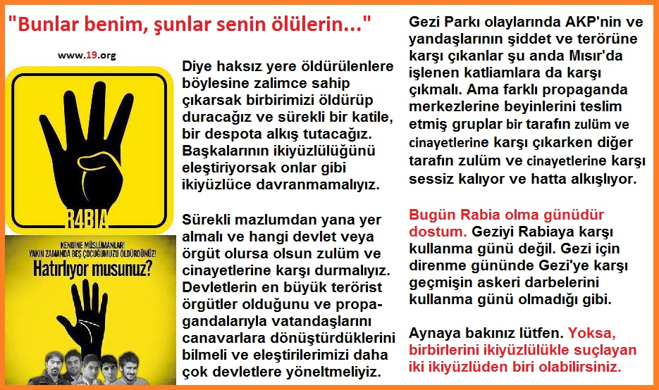 Rabiya karşı Gezi