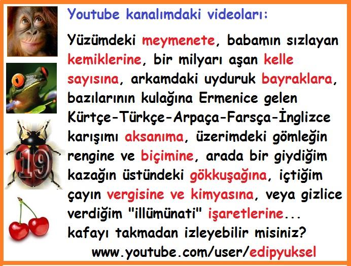 Youtube videolarım