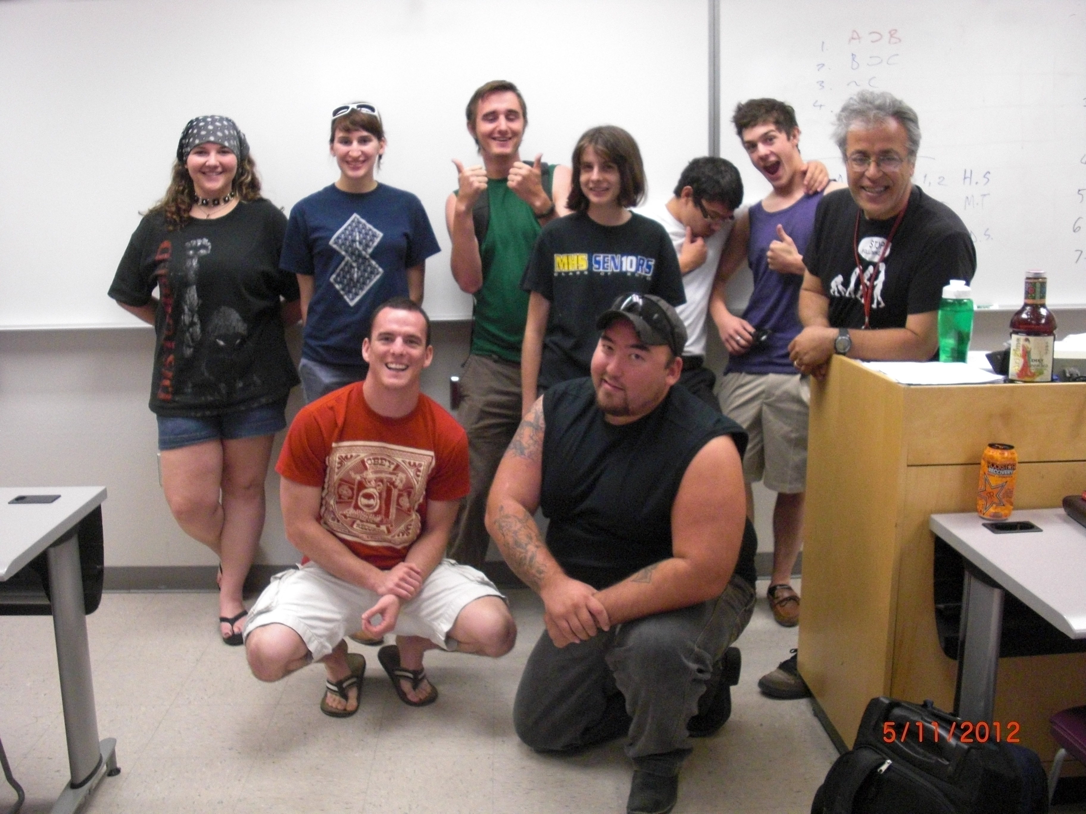 Edip Yüksel together with some members of Introduction to Logic Class at North West campus of Pima College